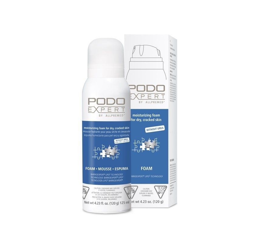 Podoexpert Foam by Allpremed® for dry to cracked skin (without Urea) 125ml